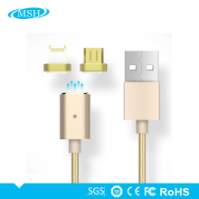 Magnetic Cable For IPhone And For Android Durable Nylon Braided 2 in 1 usb data cable