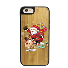 2017new gadgets bamboo wood phone case wooden cell phone case for iphone7 case