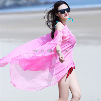Fashion lady chiffon soild color spring summer beach scarves shawls