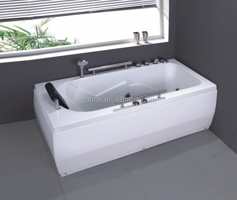 autme portable acrylic rectangle whirlpool massage bathtub