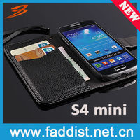 Fashion Galaxy S4 mini wallet case with stand pouch