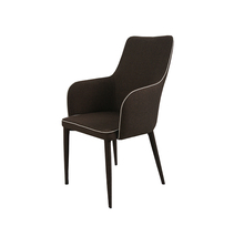 upholstered wide back dining room chairs with arms for sale