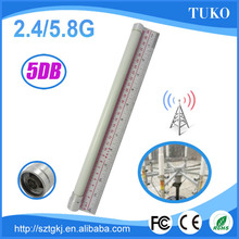 2.4G/5.8G dual band antenna for router 5DB wireless omni diretional waterproof outdoor fiberglass antenna