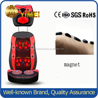 Home Using Black Shiatsu Infrared Massage Cushion for car