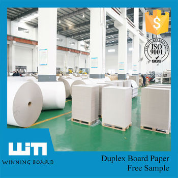 Fuyang Paper Manufacturer 250gsm A Grade Quality Good Stiffness Grey Back Duplex Paper Board