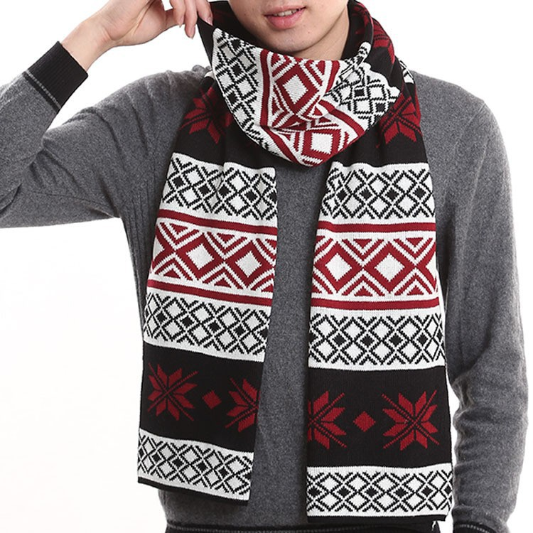 C84448A Snow Men warm scarf wool scarves for men