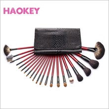 21pcs beauty accessories with case weasel makeup brushes
