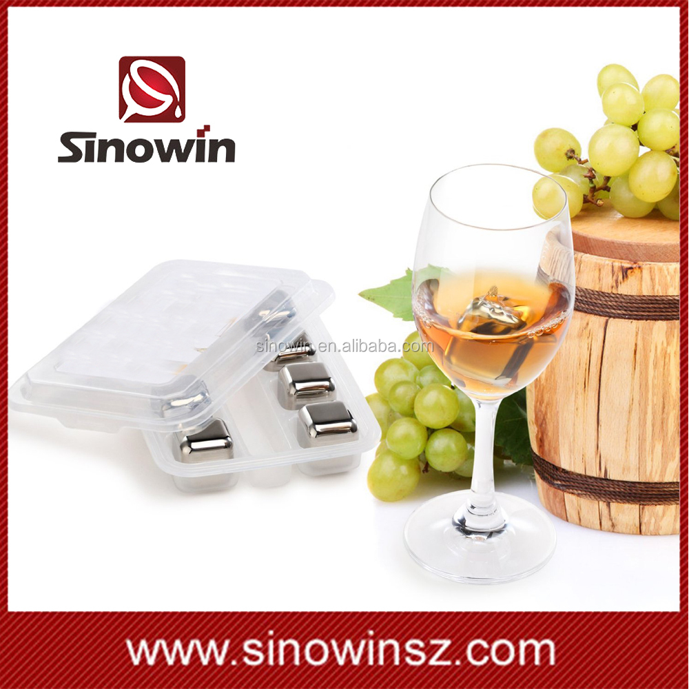 Durable stainless steel ice cube whiskey stones accept customize