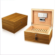 Walnut Cigar Gifts Box Humidors Storage Cases Kit