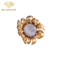 Fashion Jewellery 18k Gold Plated Sunflower Design Pendant Charms