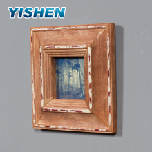 Customized vintage mini photo picture wooden shadow box wall frame