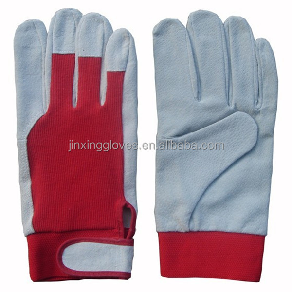 Womens driving white leather gloves