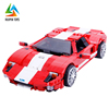 innovative products kid XB-03011 open door red car mini bricks toy with cheap price