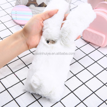 For iPhone 7 7Plus Fabric Fur Cover Rabbit Fur Mobile Phone Case Creative Fur Phone Case For Girls