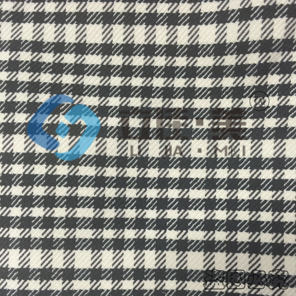 Houndstooth pattern polyester cotton yarn dyed fabric cotton polyester spandex fabric