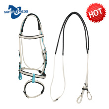 Flexible Fancy PVC And TPU Racing Horse Bridle With Double Noseband Set