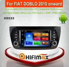 Hifimax Android 6.0 car radio for araba teybi fiat doblo/fiat doblo car radio gps fiat doblo touch screen car dvd player 8-core