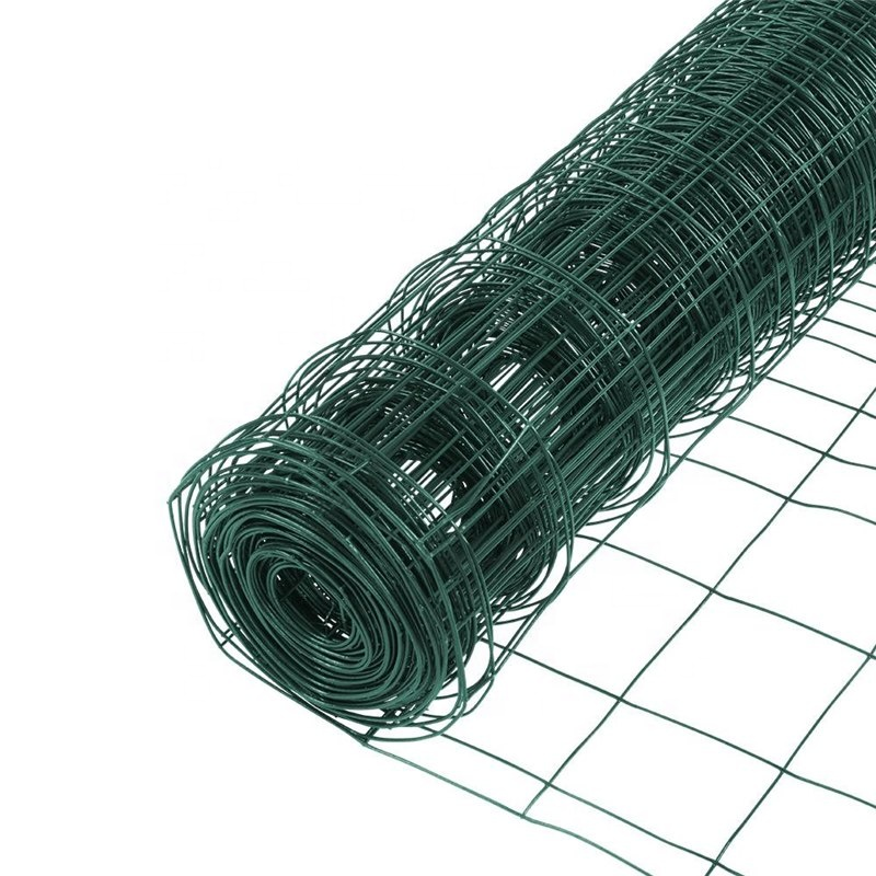 1 inch plastic coated square mesh galvanized welded wire mesh