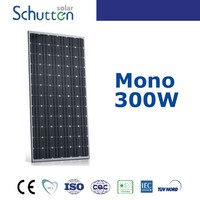 Schutten China PV Manufacturer 300 Watt Mono crystalline Silicon Solar Panel 300W 24V Commercial Use