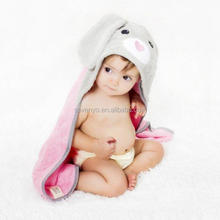 high quality organic cotton kids hooded towel | rabbit hooded bath towel | toddler soft cotton hooded bath towel