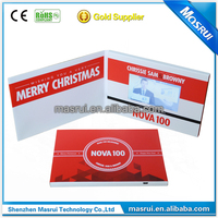 A4/A5 paper size 5 inch TFT led business card/video business card