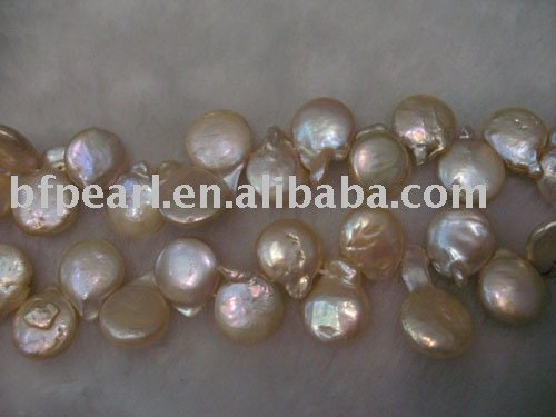 12mm coin pearls strand loose freshwater pearls