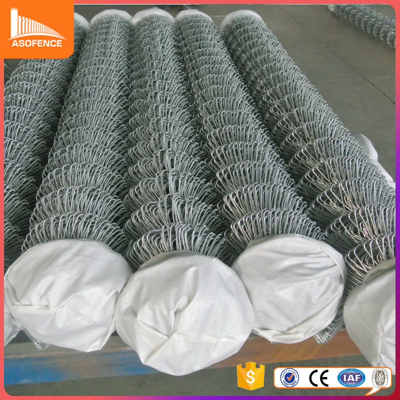 6-ft x 50-ft Galvanized Steel 9-Gauge Chain-Link Fencing Fabric/heavy duty industrial chain link fencing