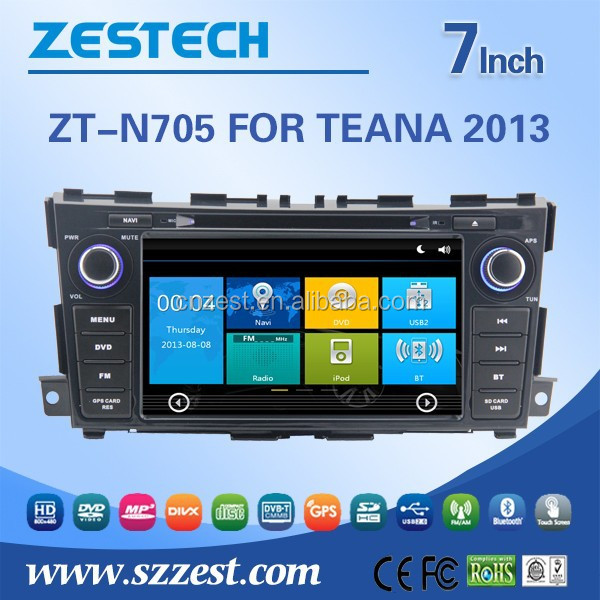 New touch screen special car dvd for Nissan TEANA 2013 with GPS/BT/3G/WiFI/Radio