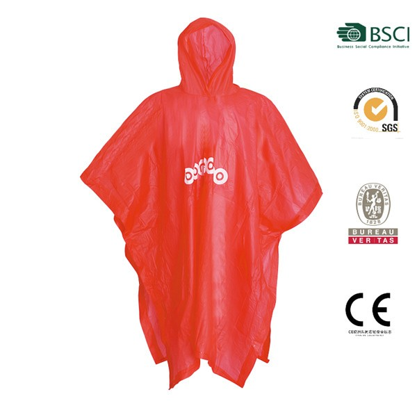 Hot sales promotional cheap with printing logo pvc rain poncho