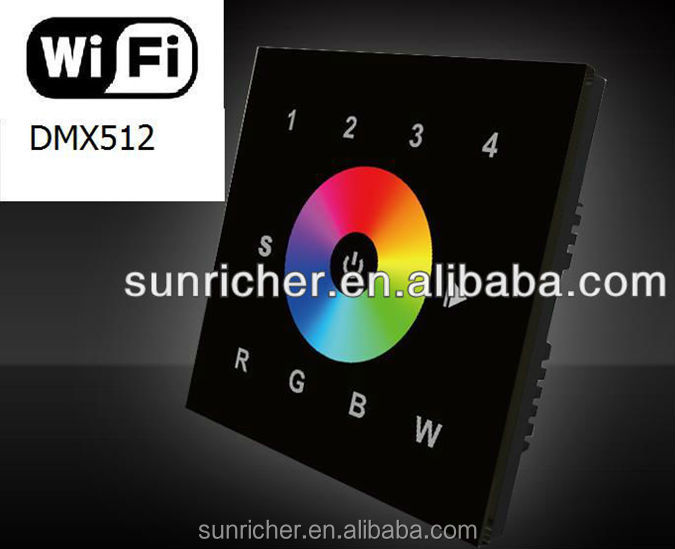 RGBW Wifi Controlled Light Switch for IOS &Android Smartphone