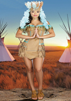 Wholesale Plus Size Sexy Native Indian Carnival Costume