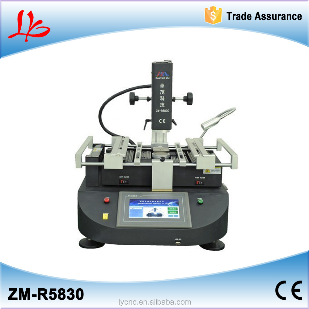 ZhuoMao ZM-R5830 Three Temperature Zones Hot air BGA Rework Station with touch screen control panel