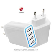 Electric Type and MP3 / MP4 Player / Mobile Phone Use 4 Port USB Wall Charger