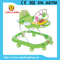 eight wheels Baby Walker with musical panel and toy frame