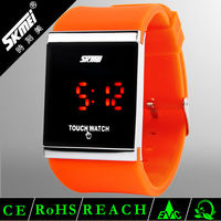 LED digital touch screen fancy silicone watches for kids