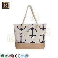 JIAKIJIAYI hot sale woven100%polyster handbag shoulder summer womens beach bag beach woman canvas beach tote