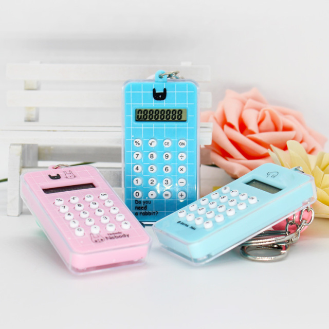 Pocket Mini Cute Funny Mini Keychain Maze Game Labyrinth Calculator