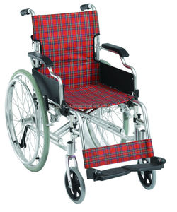 Economical aluminum lightweight remote wheelchair