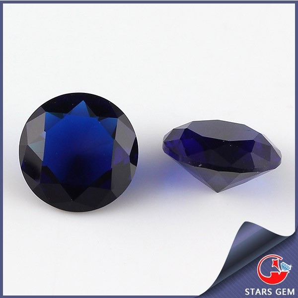 wholesale different color round cut synthetic quartz crystal glass gems