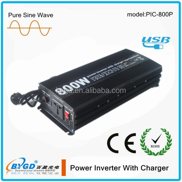 competitive price 800w pure sine wave power inverter with charger