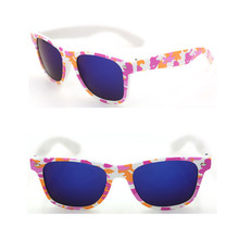 2014 Fashion Women Nerd Sunglasses with Floral Prints Glasses