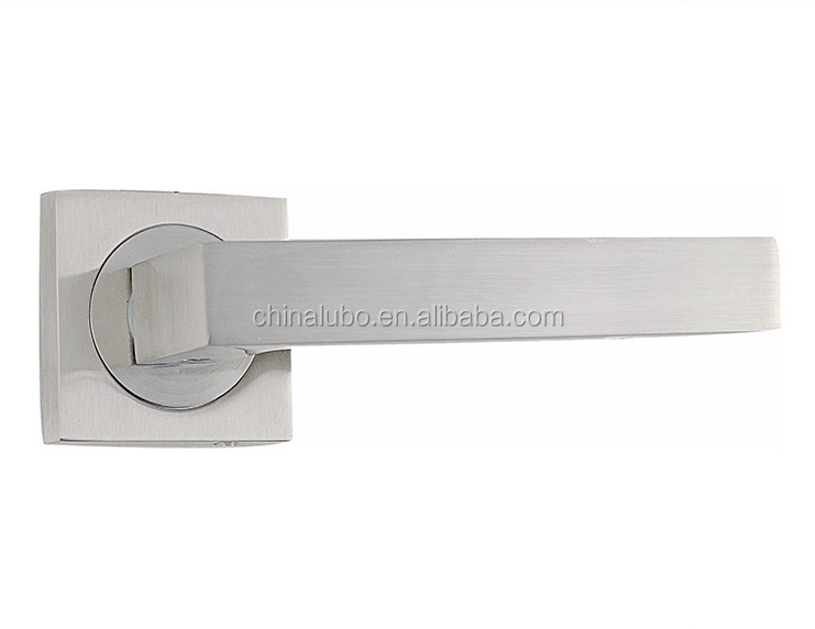 Square Shape Cheap Custom Fire Rated Lever Door Handle On Rosette