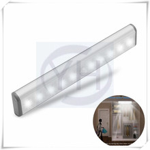 10-LED Motion Sensor Night Light with Magnetic Strip Stick-on Anywhere -Under Cabinet/ Closet/ Drawer/ Wardrobe