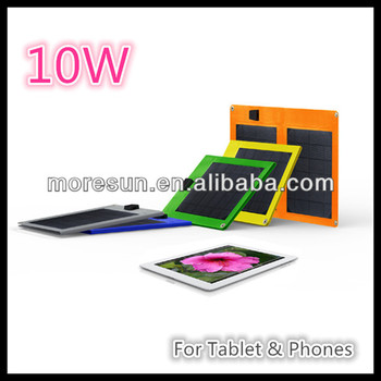 10W folding solar panel charger for tablet and cellphones
