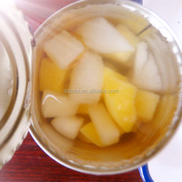 Canned fruit cocktail with pear,peach,apple,cherry /canned fruit