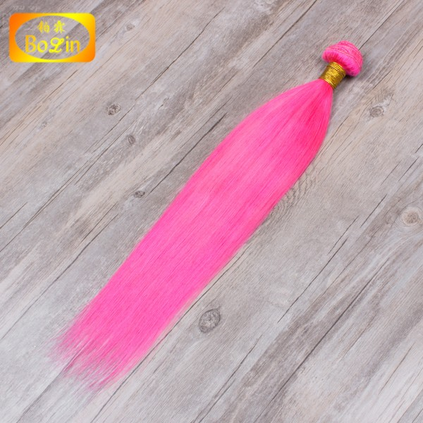 Pink Fashion products wholesale 6a hair Straight sew in human hair extensions