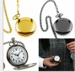 Wholesale New Gold Mirror Case Pedant necklace Mens Analog Quartz gold custom logo Pocket Watches