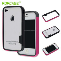 Three Colors Hybrid PC and TPU Bumper phone case for iphone 4