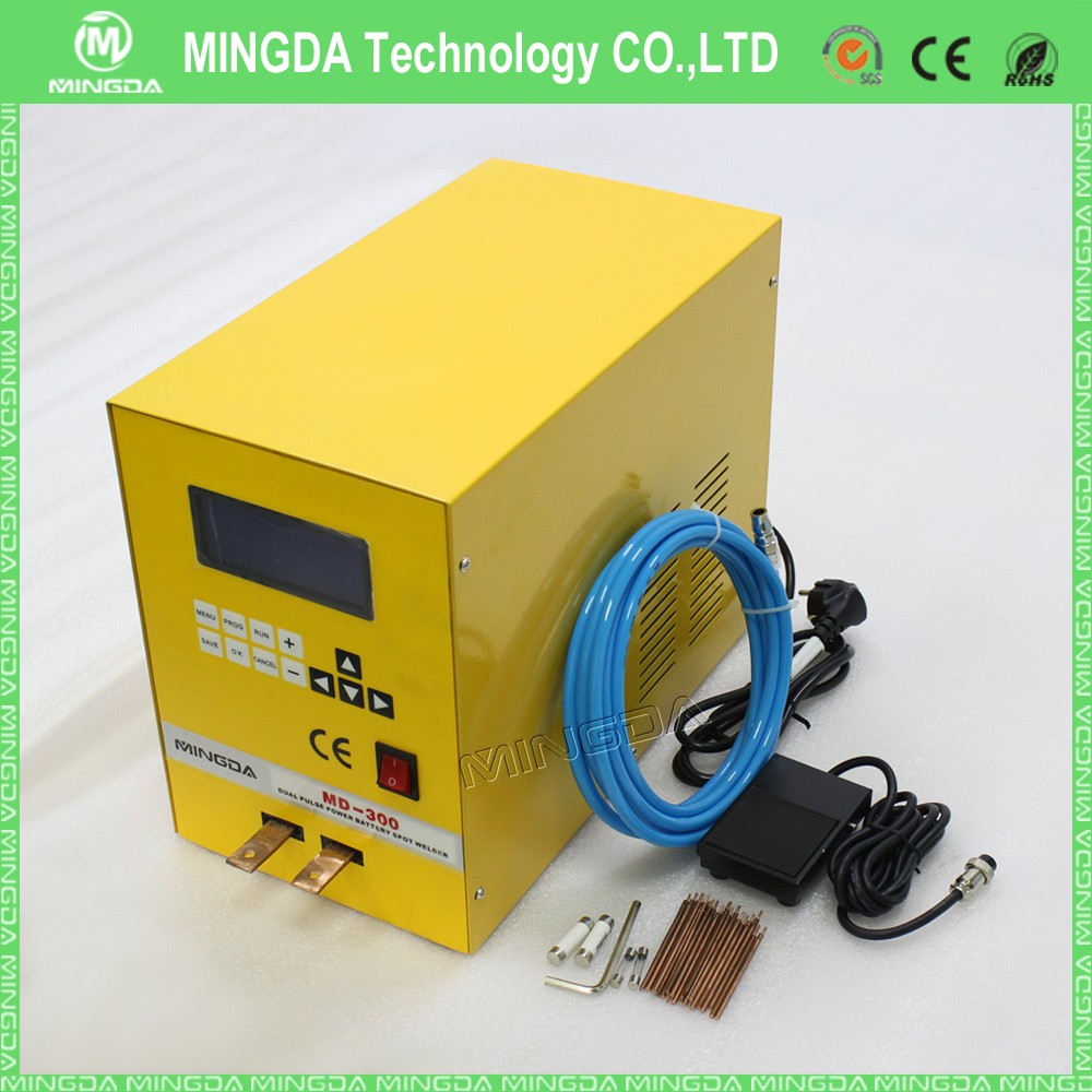 0.03-0.3mm professional MINGDA MD-300 18650 battery spot welder machine at factory price