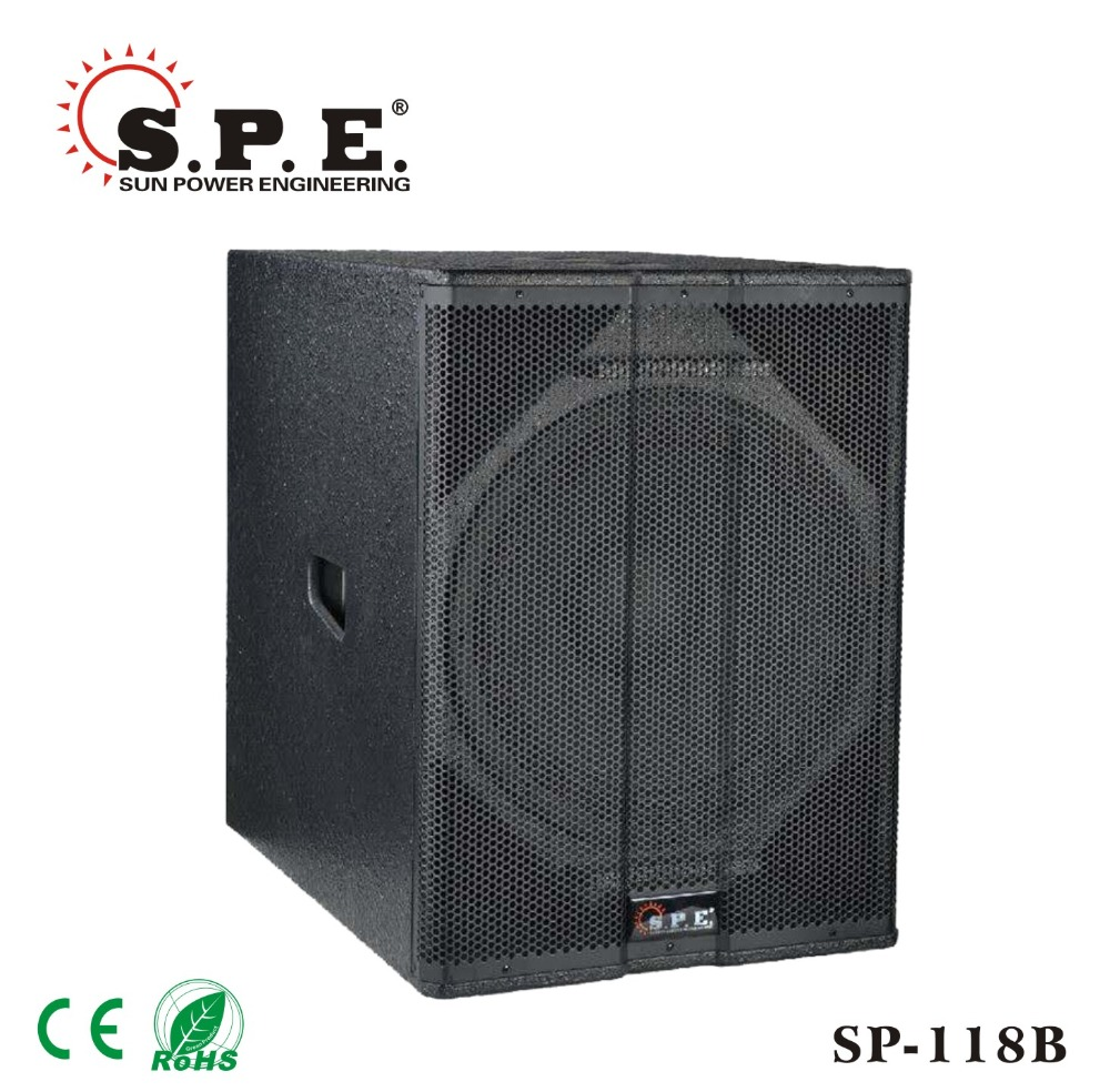 spe audio SP-118B 800W 18 inch professional subwoofer